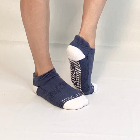 Ankle Sock-Blue/White