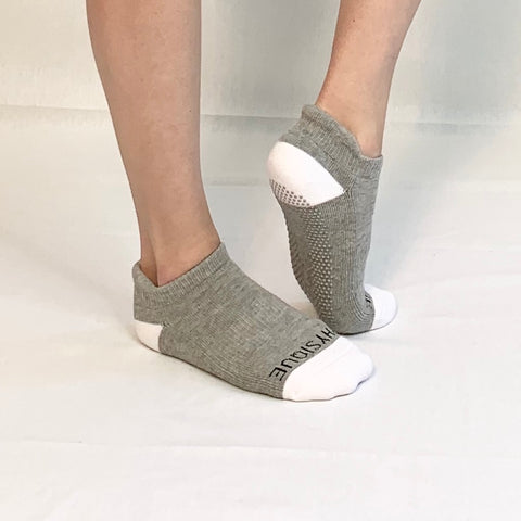 Ankle Sock-Grey/White