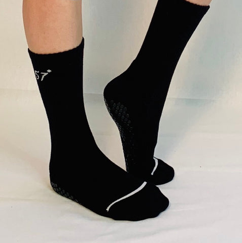 Calf Sock-Black/White