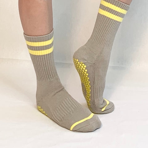 Calf Sock- Yellow/Grey