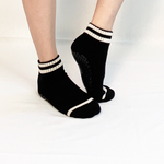 black and white crew socks