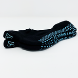 P57 Classic Ankle Sock: Black with Blue grip