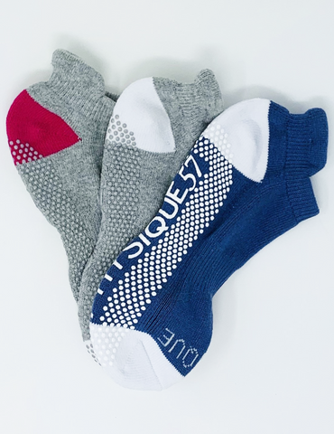 3 pack assorted barre socks