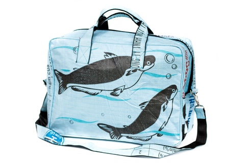 Blue Fish Duffel Bag