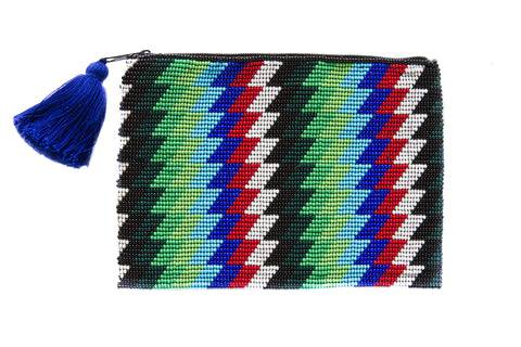 ZigZag Beaded Clutch