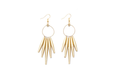 Circle Drop Earrings Gold