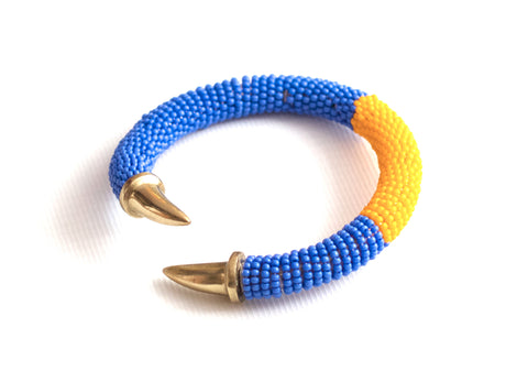 Carnivale Beaded Bangle Tangerine Whirl