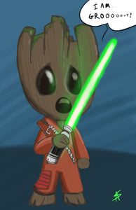 Groot the Jedi | Parody Fan Art