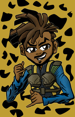 Riley Freeman the Killmonger: Boondocks Marvel Black Panther Parody Fan Art