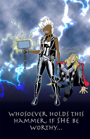 Storm: Goddess of Thunder! Fan Art Poster Comics Movies Superhero Print marvel Wall Art Artwork
