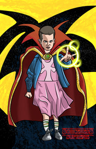 Dr. Strange or Doctor Stranger things? - Fan Art Mash up of Eleven from Netflix's Stranger Things