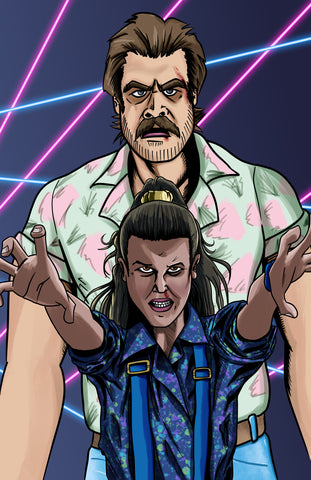Stranger Things - Hopper and Eleven Fan Art