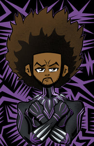 Huey Freeman the Black Panther: Boondocks Marvel Parody Fan Art