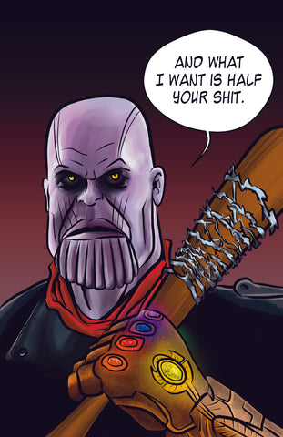 The Walking Dead Thanos and Negan Mashup Parody - Fan art Avengers Infinity War Parody