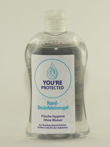 YOU`RE PROTECTED Desinfektionsgel, 50 x 500 ml