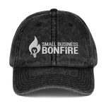 Embroidered Bonfire Logo Vintage Cap