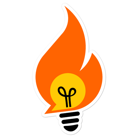 Small Business Bonfire Logo Sticker