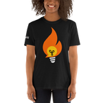 Bonfire T-Shirt with Logo on Sleeve - Dark