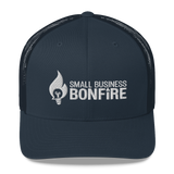 Embroidered Bonfire Logo Trucker Cap - Dark