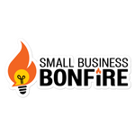 Small Business Bonfire Full Logo Sticker
