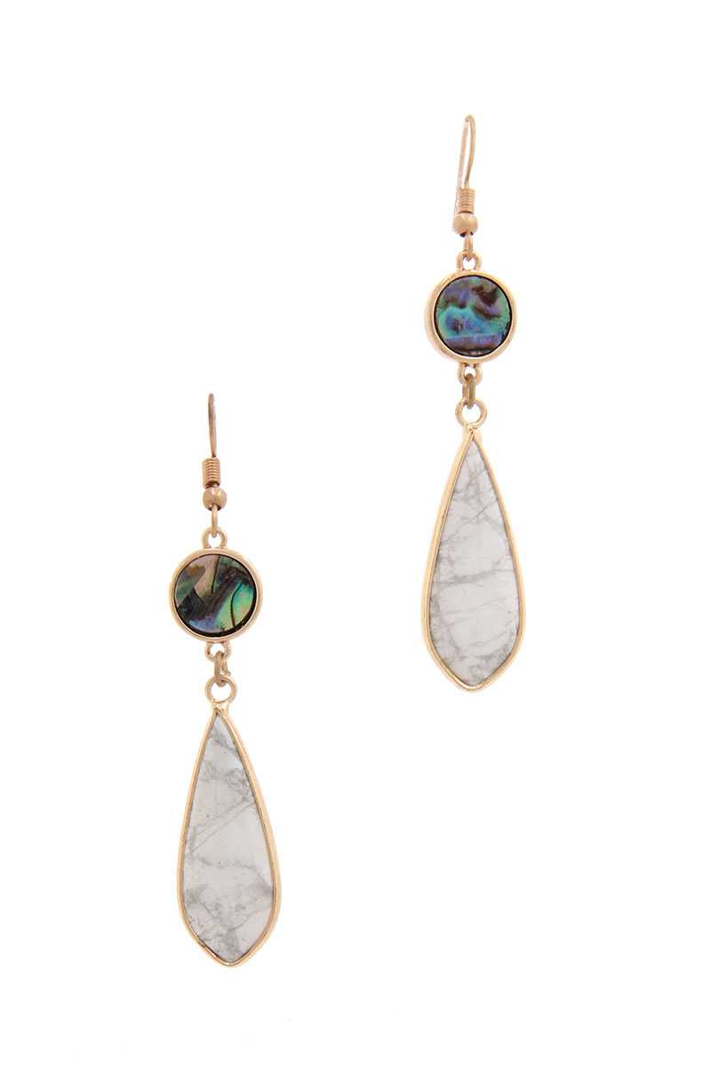 Heidi Dangle Drop Earring (In White Pink and Turquoise)