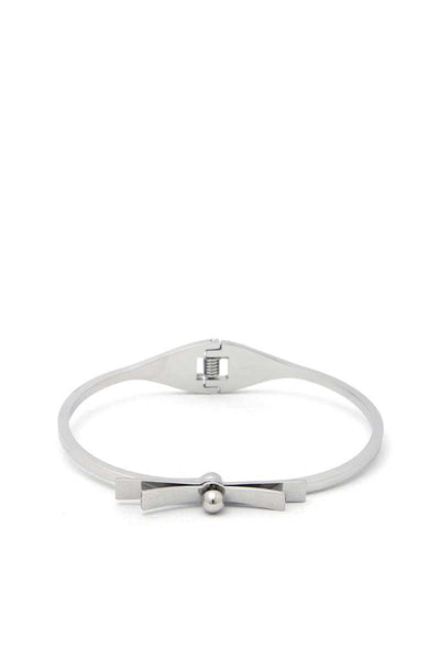 Infinity Kisses Stainless Steel Bangle