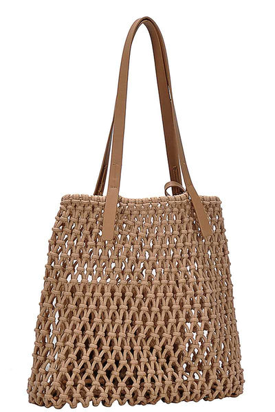 Madeline String Woven Tote Bag