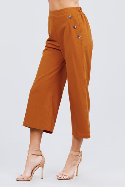 Ophelia Wide Long Leg Linen Pants