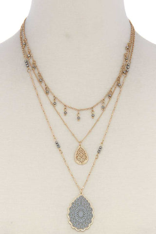 Olivia Three Layer Fashion Necklace