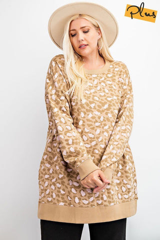 Lair Leopard Terry Knit Dress