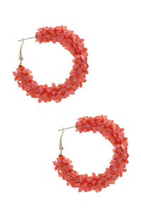 Flower Sequin Hoop Earring
