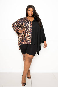 Leopard Print Cape Top