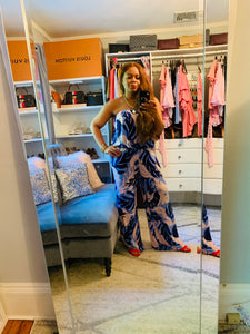 Hacienda Tropical Print  Jumpsuit