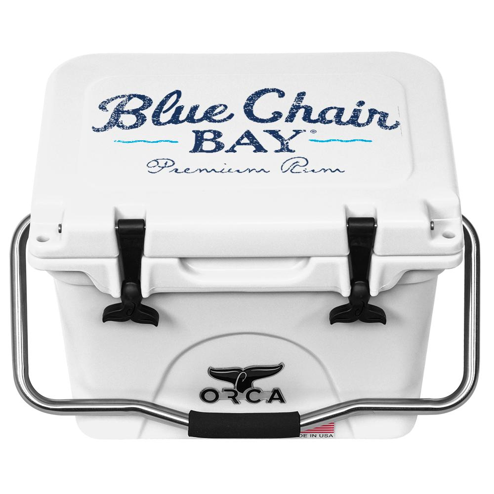 ORCA White 20 Cooler Blue Chair Bay