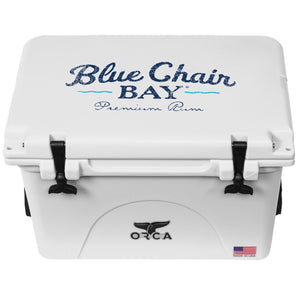 ORCA White 40 Cooler Blue Chair Bay