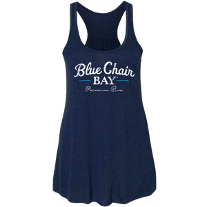 Ladies Racerback Tank- Navy