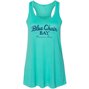 Ladies Racerback Tank- Teal