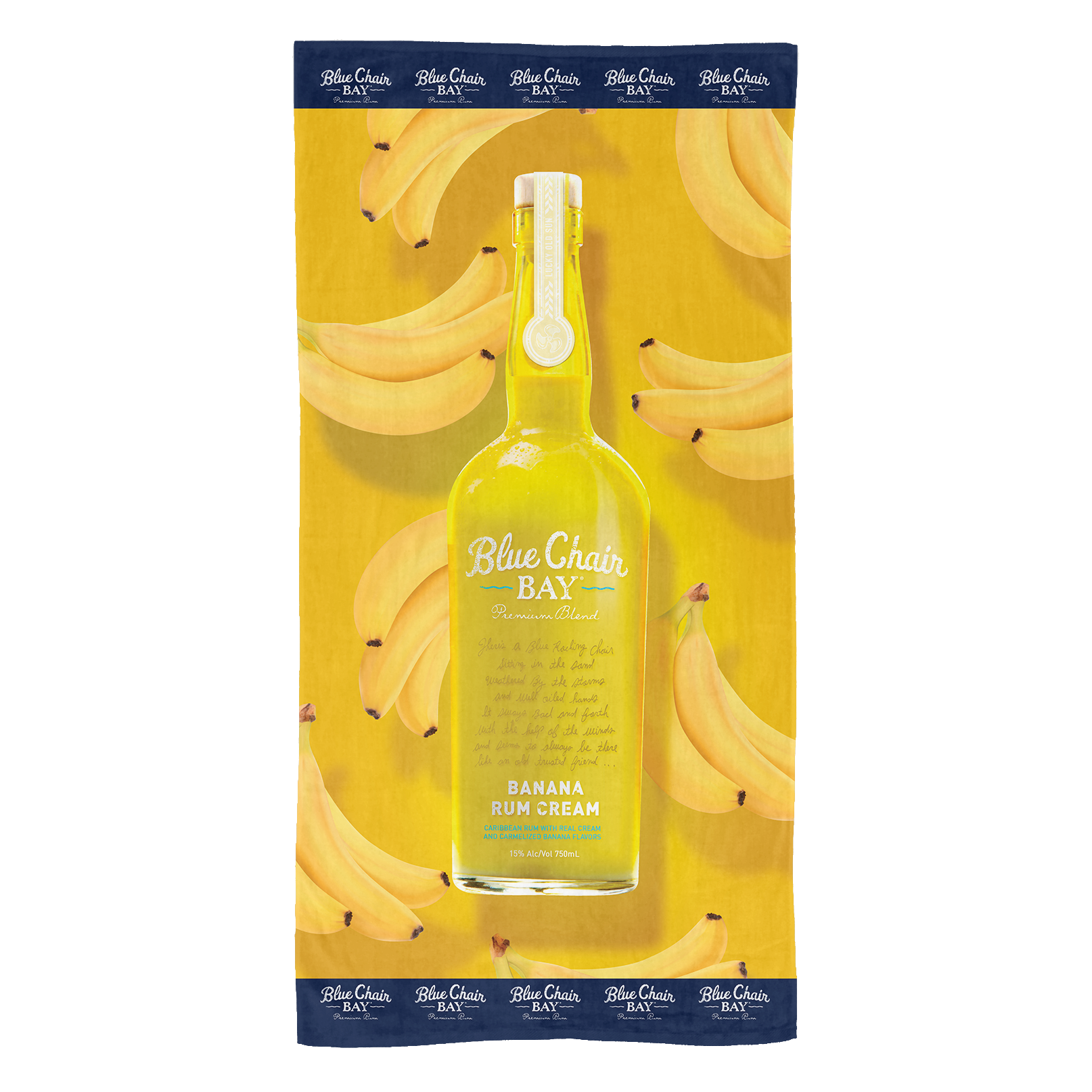 Banana Bottle Beach Towel