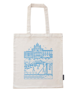 Kauppatori bag, blue print