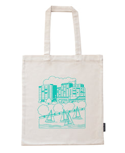 Merihaka bag, mint green print