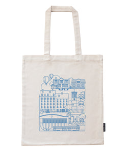 Vallila bag, blue print