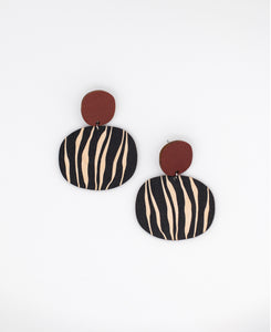 Kivi earrings, maroon