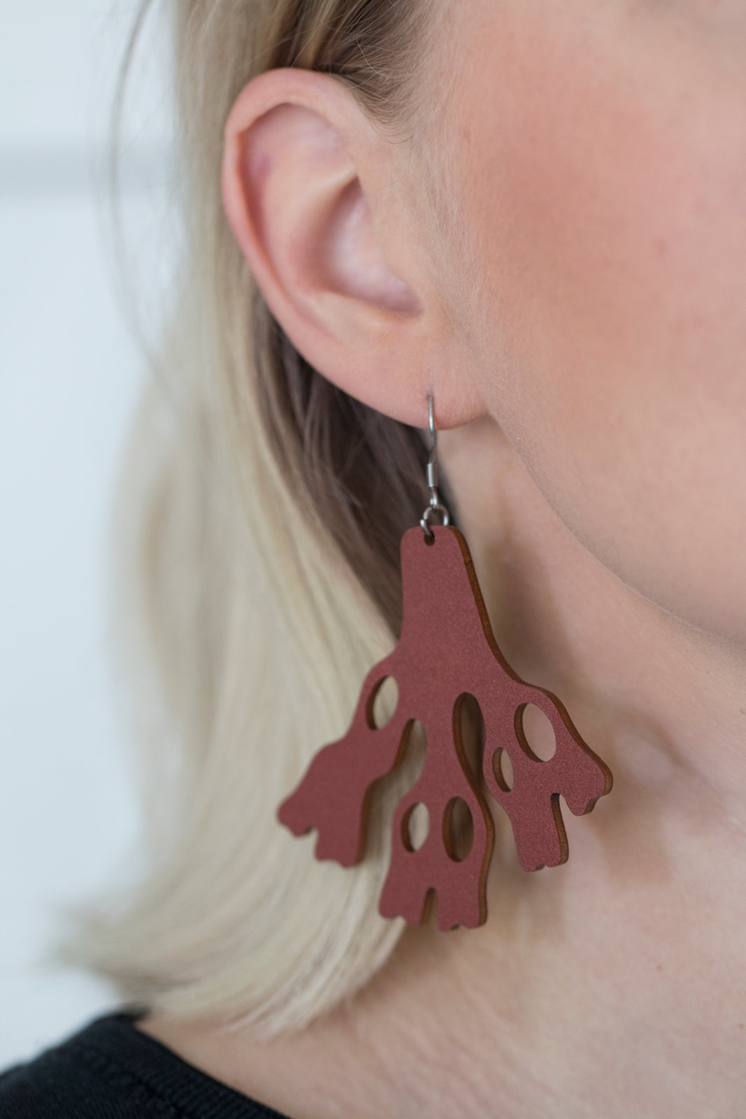 Meri earrings in use