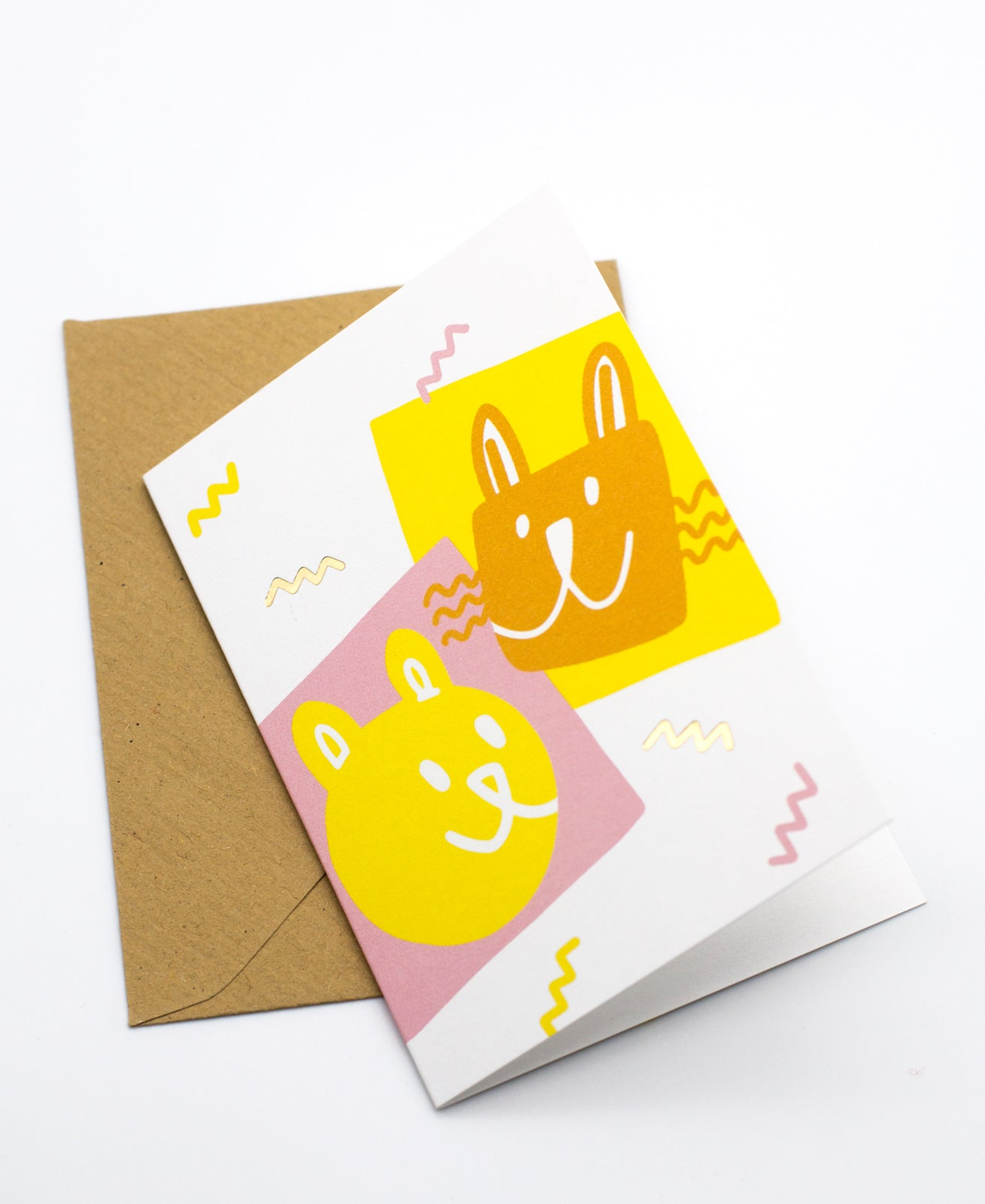 Kaverit mini greeting card + envelope