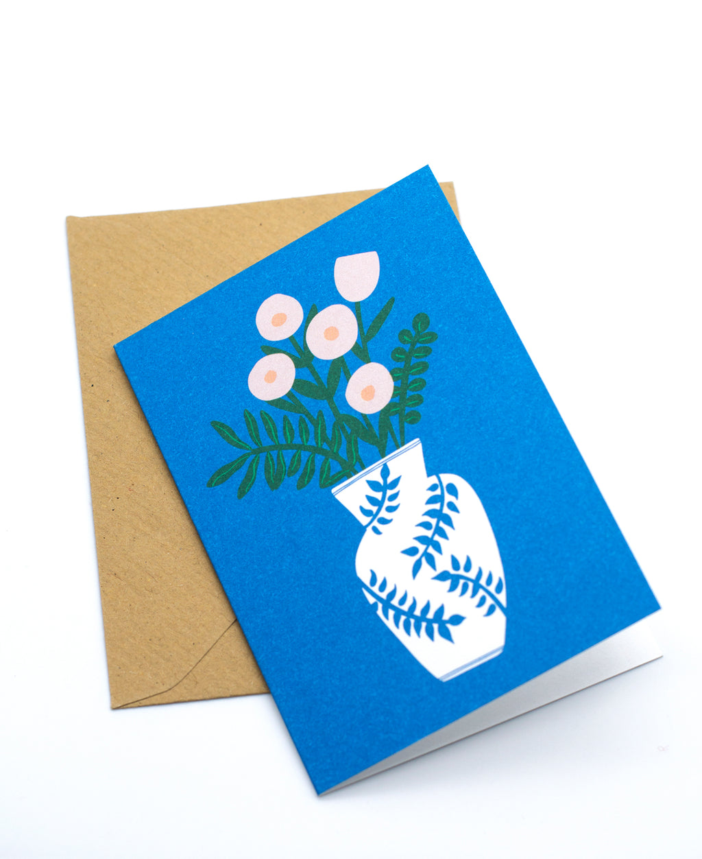 Kukkamaljakko mini greeting card + envelope