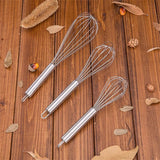 8/10/12inches Stainless Steel Balloon Wire Whisk Egg Beater Mixer Baking Utensil - S@Ssons