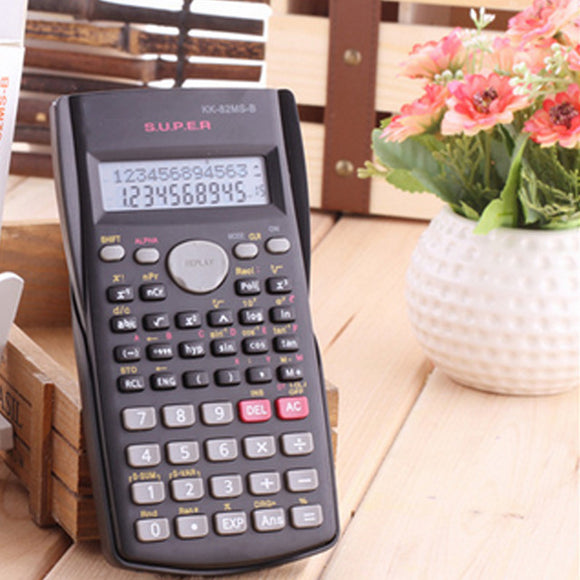 New Function Calculator 82MS Handheld Multi-function 2-Line Display Digital LCD Scientific Calculator - S@Ssons