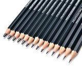 14Pcs Students Painting Tool 6H-12B Professional Art Sketch Drawing Pencil Set - S@Ssons