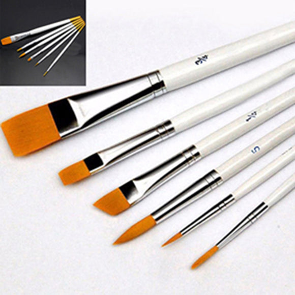 6 Pcs Art Painting Brushes Set Acrylic Oil Watercolor Artist Paint Brush Tool - S@Ssons