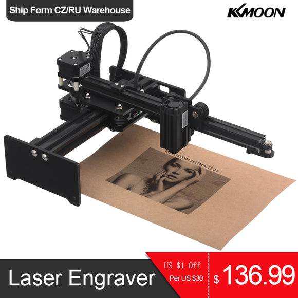 20W/7000mw/3500MW CNC Laser Engraver Portable Engraving Carving Machine Mini DIY Laser Logo Mark Printer for Metal Engraving